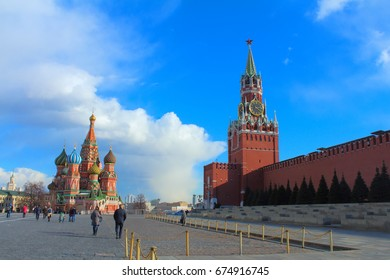 MOSCOW, RUSSIA: March 30, 2017 - The Red Square.