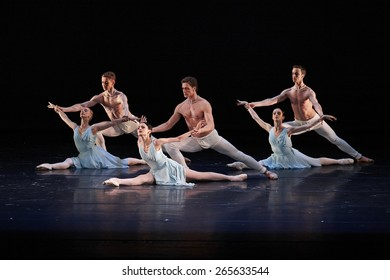 MOSCOW, RUSSIA - March 31: Hans van Maanen ballet show of Mariinsky theater during Golden Mask contest. March 31, 2015 in Moscow, Russia.