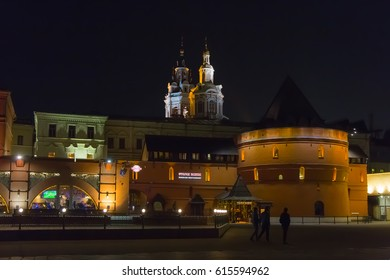 MOSCOW, RUSSIA – MARCH 9, 2017: Moscow night. Revolution Square.