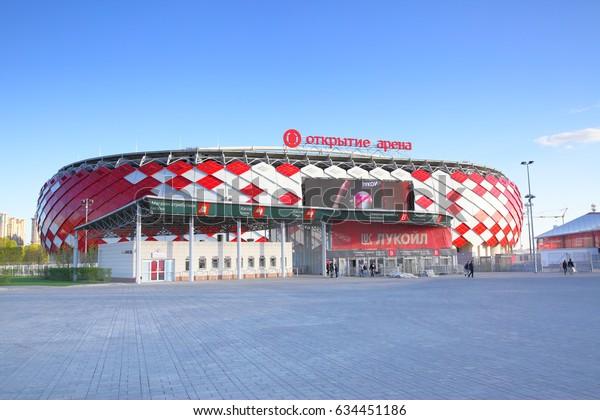 Moscow, Russia - May 03, 2017: View of Otkrytie Arena Stadium (Spartak Stadium) in Moscow