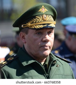 MOSCOW, RUSSIA - MAY 07, 2017: Chief of the General staff of the Russian armed forces — first Deputy defense Minister, army General Valery Gerasimov.