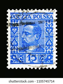 MOSCOW, RUSSIA - MAY 13, 2018: A stamp printed in Poland shows Henryk Sienkiewicz, serie, circa 1928
