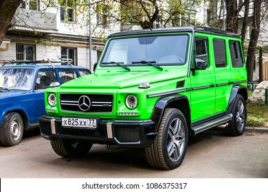 Moscow, Russia - May 2, 2018: Motor car Mercedes-Benz W463 G63 AMG in the city street.