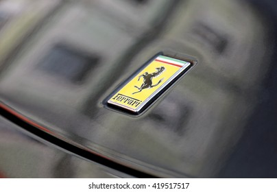 Moscow, Russia - may 2016 : logo of Ferrari