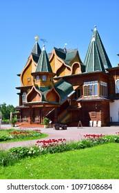 Moscow, Russia - May 22. 2018. palace of Tsar Alexei Mikhailovich in Kolomenskoye museum