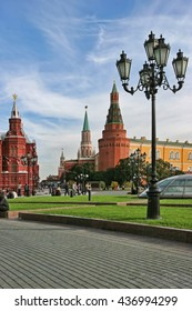 Moscow, Russia - May 24, 2015: The State Historical Museum of Russia. Located between Red Square and Manege Square in Moscow,was founded in 1872.