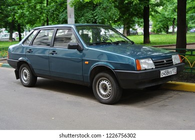 MOSCOW, RUSSIA - MAY 27, 2013: Lada Samara 1500 Sedan VAZ-21099 1990s popular and prestigious Russian compact car