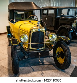 MOSCOW, RUSSIA - MAY 27, 2019: Citroen  C 5HP Torpedo  vintage car at the free of charge exhibition at the Moscow Domodedovo Airport