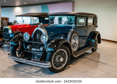 MOSCOW, RUSSIA - MAY 27, 2019: Lorraine-Dietrich  vintage car at the free of charge exhibition at the Moscow Domodedovo Airport