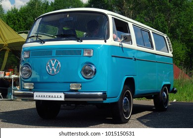 MOSCOW, RUSSIA - MAY 28, 2016: Classic Volkswagen Transporter T2 (Type 2) at the VW Car Festival