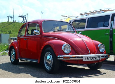 MOSCOW, RUSSIA - MAY 28, 2016: Classic Volkswagen Beetle at the VW Car Festival