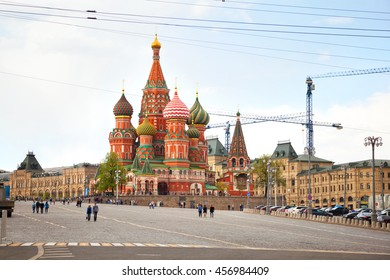MOSCOW, RUSSIA - MAY 3, 2016: St. Basil's Cathedral on red Square