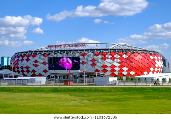 Moscow, Russia - May 30, 2018: Main view of Spartak Stadium or