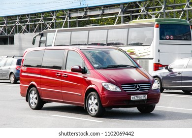 Moscow, Russia - May 5, 2012: Motor car Mercedes-Benz W639 Vito in the city street.