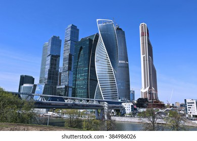 MOSCOW, RUSSIA - MAY 7, 2015: Business center Moscow-City