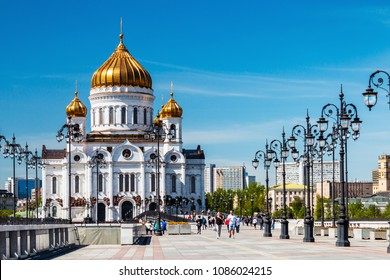 Moscow, Russia - may 7, 2018: Cathedral of Christ the Saviour. The Cathedral of Christ the Saviour is the largest Church of the Russian Church