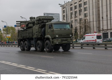 Moscow, Russia, May 9, 2017: Victory Day, military parade