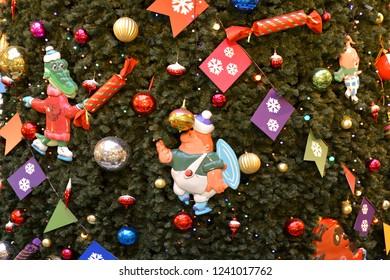MOSCOW, RUSSIA - NOV 25, 2018: Christmas and New Year. Christmas tree
