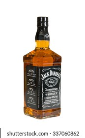 Moscow, Russia November 09,2015 : botle of Jack Daniels. Jack Daniel's is a brand of sour mash Tennessee whiskey .