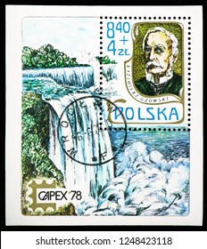 "MOSCOW, RUSSIA - NOVEMBER 10, 2018: A stamp printed in Poland shows K.S.Gzowski (1813-1898), Polish engineer and lawyer, ""Capex'78"", Canada serie, circa 1978"