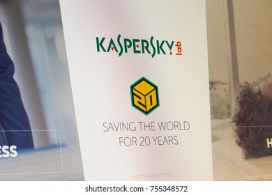 MOSCOW, RUSSIA - NOVEMBER 13 , 2017: The main web page of Kaspersky.