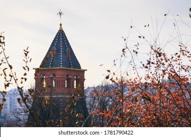 MOSCOW, RUSSIA November 15, 2019 : Roof top of Secret tower at the Moscow Kremlin Palace the most popular tourist attraction in Moscow, Russia.