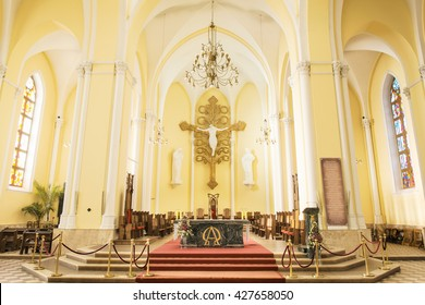 MOSCOW, RUSSIA - NOVEMBER 23, 2012: Cathedral Of The Immaculate Conception Of The Holy Virgin Mary