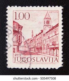 MOSCOW RUSSIA - NOVEMBER 25, 2012: A Yugoslavia circa shows a culture museum in Bitola city