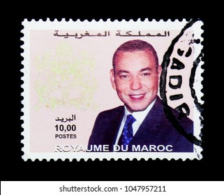 MOSCOW, RUSSIA - NOVEMBER 26, 2017: A stamp printed in Morocco shows King Mohammed VI, serie, circa 2001