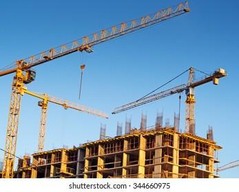 "Moscow, Russia - November 28, 2015: Construction site ""Tatianin Park"""