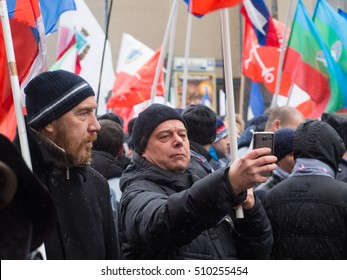 MOSCOW, RUSSIA - NOVEMBER 4, 2016: National Unity Day. This action takes place every year on National Unity Day since 2005.