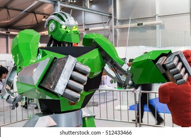 """Moscow, Russia, November 4, 2016: The 4rd International Exhibition of Robotics and advanced technologies """"Robotics Expo"""" in Moscow"""