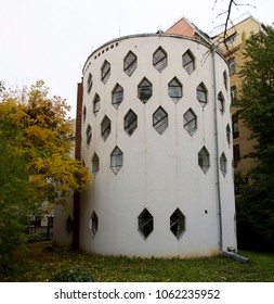 Moscow, Russia - Oct 09, 2011: Russian avant-garde (constructivism). Melnikov House (1927).