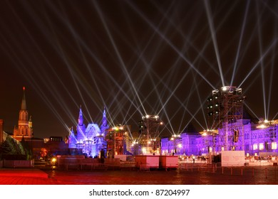 """MOSCOW, RUSSIA - OCT 22, 2011: Moscow International """"Circle of Light """"Festival. It is a unique event representing the cultural life of capital and the whole country."""