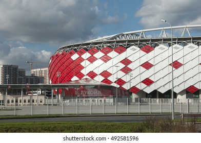 MOSCOW, RUSSIA, OCTOBER 01. 2016: - Otkrytiye Arena, Spartak football club stadium included in the Russia's bid for the 2018 FIFA World Cup and 2017 FIFA Confederations Cup.