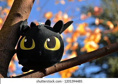 """Moscow, Russia- October 12 2018: toy dragon from cartoon """"How to Train Your Dragon""""."""