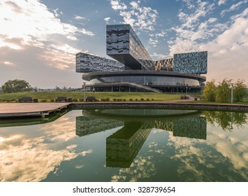 Moscow, Russia - October 18, 2015: the Innovation center SKOLKOVO. Moscow school of management.