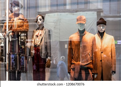 Moscow, Russia - October 21, 2018: Zara Home Clothing Store Flagship Building in Moscow. Zara is Clothing Fashion Shop, World's Largest Apparel Retailer. Shop Zara Home in Moscow.