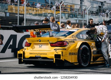 Moscow, Russia, Moscow Raceway - AUG 8, 2017: DTM 2017 Moscow stage BMW M4 DTM Timo Glock on the starting grid
