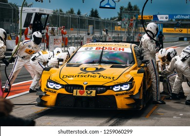 Moscow, Russia, Moscow Raceway - AUG 8, 2017: DTM 2017 Moscow stage BMW M4 DTM Timo Glock on the pit stop