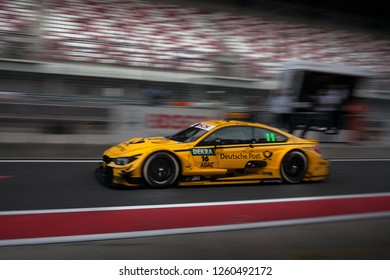 Moscow, Russia, Moscow Raceway - AUG 8, 2017: DTM 2017 Moscow stage BMW M4 DTM Timo Glock on the pitlane go fast