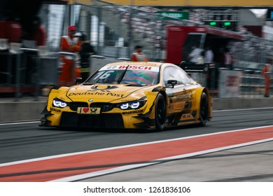 Moscow, Russia, Moscow Raceway - AUG 8, 2017: DTM 2017 Moscow stage BMW M4 DTM Timo Glock on the pitlane