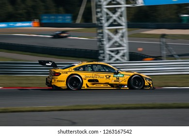 Moscow, Russia, Moscow Raceway - AUG 8, 2017: DTM 2017 Moscow stage BMW M4 DTM Timo Glock ride on track