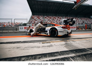 Moscow, Russia, Moscow Raceway - AUG 8, 2017: DTM 2017 Moscow stage BMW M4 DTM Augusto Farfus