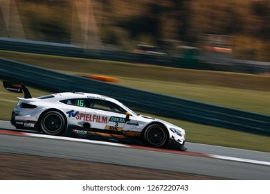 Moscow, Russia, Moscow Raceway - AUG 8, 2017: DTM 2017 Moscow stage Mercedes Benz AMG HWA Paul di Resta rids fast