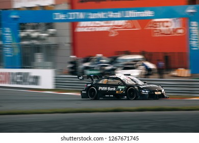 Moscow, Russia, Moscow Raceway - AUG 8, 2017: DTM 2017 Moscow stage BMW DTM M4 Bruno Spengler ride fast at the track