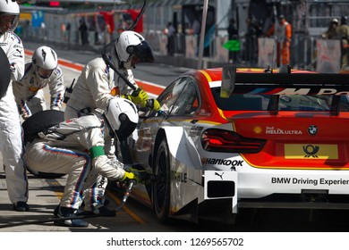 Moscow, Russia, Moscow Raceway - AUG 8, 2017: DTM 2017 Moscow stage BMW M4 DTM Augusto Farfus on the pitlane