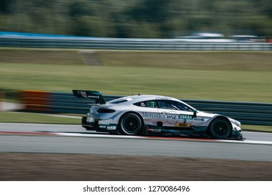 Moscow, Russia, Moscow Raceway - AUG 8, 2017: DTM 2017 Moscow stage Mercedes Benz AMG C-class Gary Paffett go fast