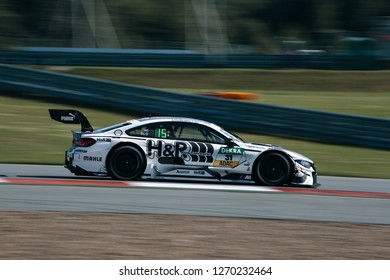 Moscow, Russia, Moscow Raceway - AUG 8, 2017: DTM 2017 Moscow stage BMW M4 DTM Tom Blomqvist Team RBM go fast