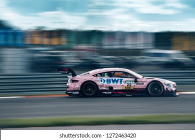Moscow, Russia, Moscow Raceway - AUG 8, 2017: DTM 2017 Moscow stage BWT Mercedes Benz AMG DTM Lucas Auer go fast